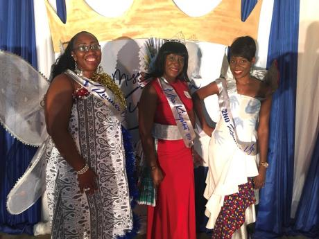 First-place winner Cleopatra Wallace (centre) second-place Donna-Marie Burke (left), and third place, Latoya Stone (right).